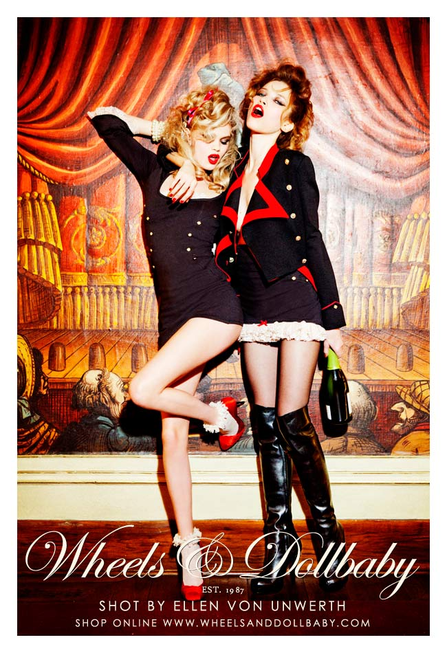Wheels & Dollbaby Versus Ellen Von Unwerth = Pin-Up Perfection!